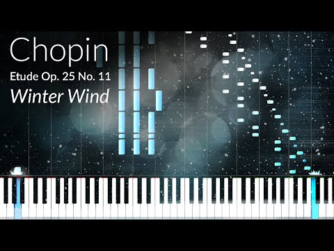 Etude Opus 25 No. 11 (Winter Wind) - Frederic Chopin [Piano Tutorial] (Synthesia)