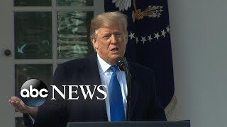 Trump declares national emergency in the Rose Garden