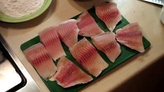 Немного затупила ))Как приготовить вкусно рыбу телапию на сковородке... видео а fish