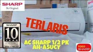 Terlaris Termurah AC SHARP 0.5 PK AH-A5UCY 350 Watt FREE ONGKIR JABODETABEK DAN PEMASANGAN