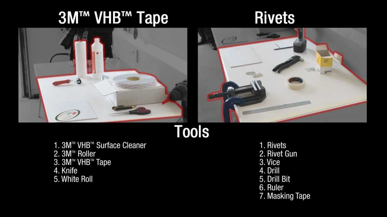3m Vhb Tape Speed Of Attachment Demonstration Youtube