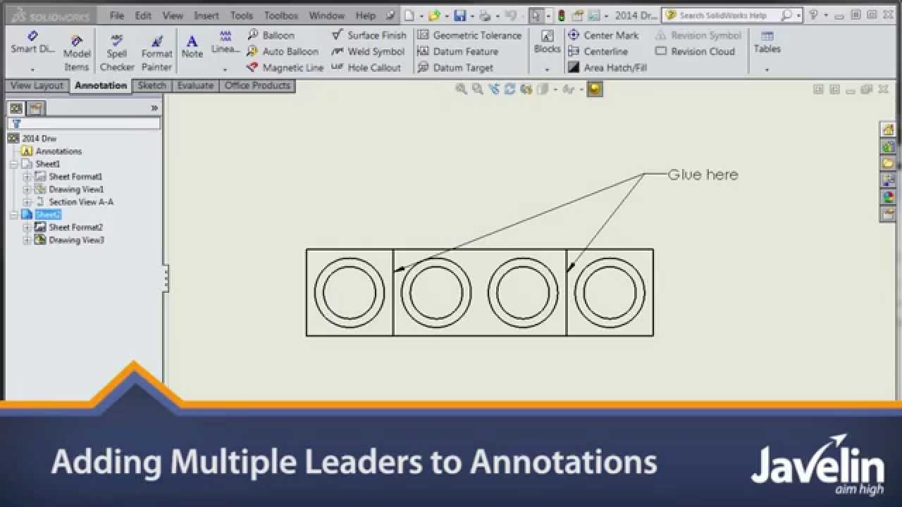 Adding Multiple Leaders To Annotations In Solidworks