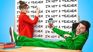 تبديل جسم المدرسه مع الطالب لمدة 24 ساعه!