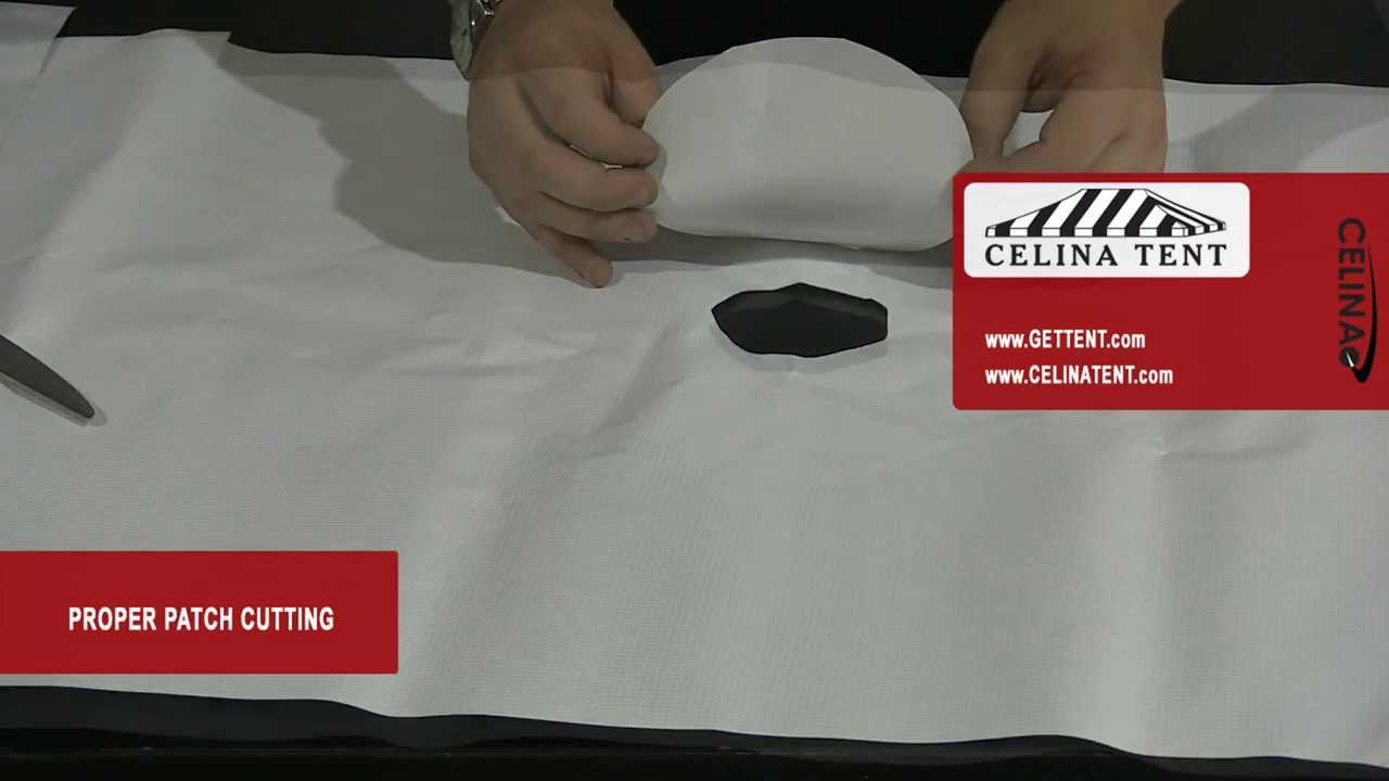 Fabric Repair - Cutting a patch to cover a hole tear or rip (tents u0026 tarps) & Fabric Repair - Cutting a patch to cover a hole tear or rip ...