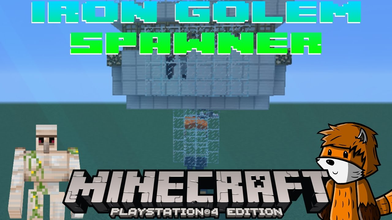 How To Build A Iron Golem Farm In Minecraft Pe