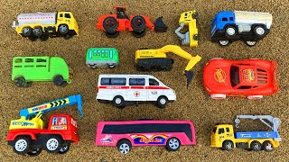 Hiding Some Good Quality Toy & Cheapest Toy Vehicles in Different Place | Ambulance, Crane, Tayo etc
