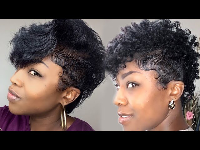 Tapered Versatile Natural Mohawk Straight Vs Curly Youtube