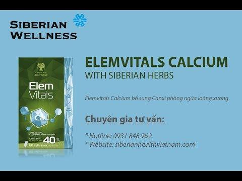 Elemvitals Calcium (Elem vitals Ca) của Siberian Wellness giúp ngừa loãng xương