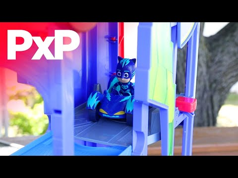 Kids can save the day with the PJ Masks Transforming 2 in 1 Mobile HQ! | A Toy Insider Play by Play