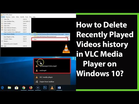 How to Delete Recently Watched Videos History on VLC Media Player in
