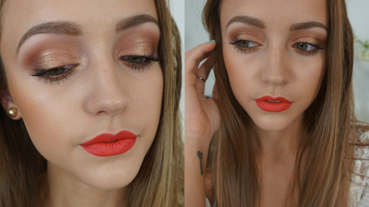 Neon Coral Lips | Makeup Tutorial - YouTube