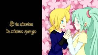 hatsune miku, kagamine len~ai kotoba (palabras de amor) español