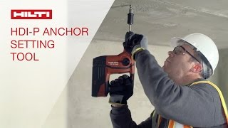 DEMONSTRATION of the Hilti HDI-P Automatic Setting System