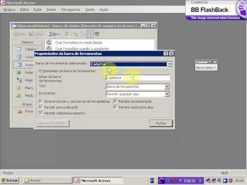 Como criar um banco de dados no access 2007