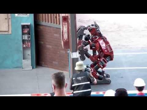DARPA Robotics Challenge Finals - CHIMP Stumbles and Recovers