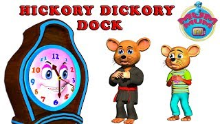 Hickory Dickory Dock - Wheels on the bus- English Nursery Rhymes for Kids |