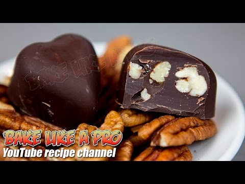 Easy Dark Chocolate Pecan Hearts Recipe By BakeLikeAPro