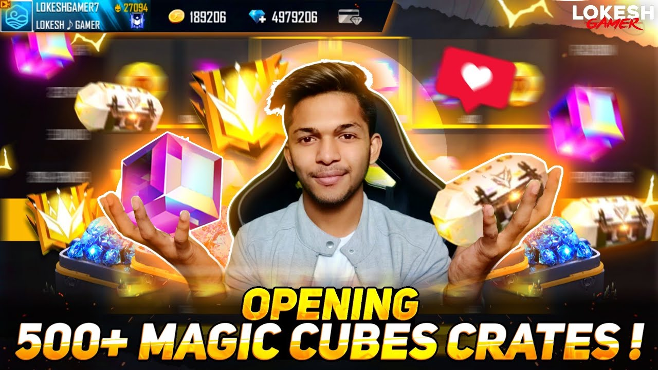 New Record In India ? Opening 1000 Magic Cube Creates Got 100 Magic Cube 😱 In My Account Free Fire