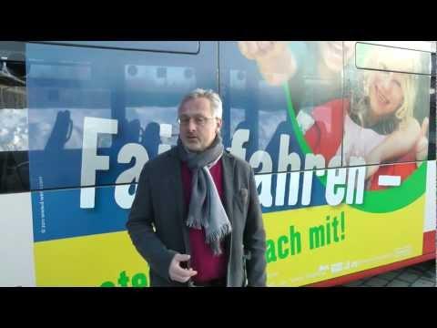 """Bernd Grabherr, der Initiator von """"Fair fahren - steig ein, mach mit!"""", stellt das Projekt vor"""