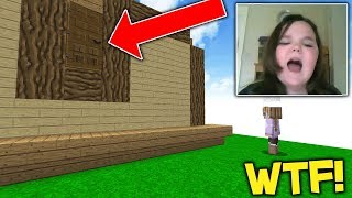 Flipping a GIRLS HOUSE UPSIDE DOWN! (Minecraft Trolling)