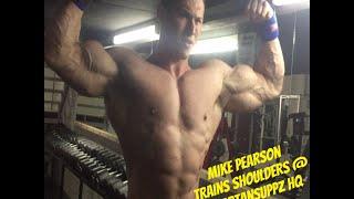 Mike Pearson Trains Delts @Spartansuppz HQ