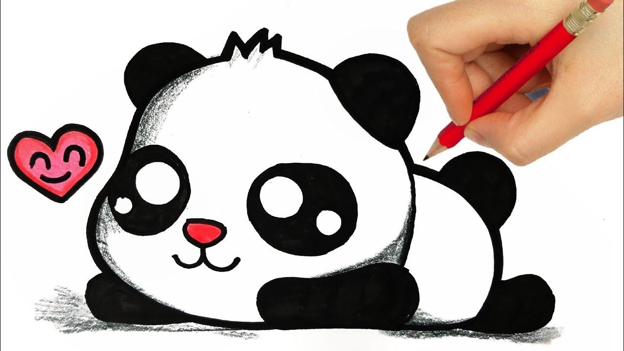 Drawing A Panda Kawaii Dibujos Kawaii How To Draw A Cute Panda Youtube