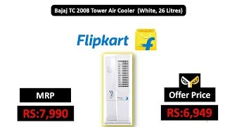 Bajaj TC 2008 Tower Air Cooler (White, 26 Litres)