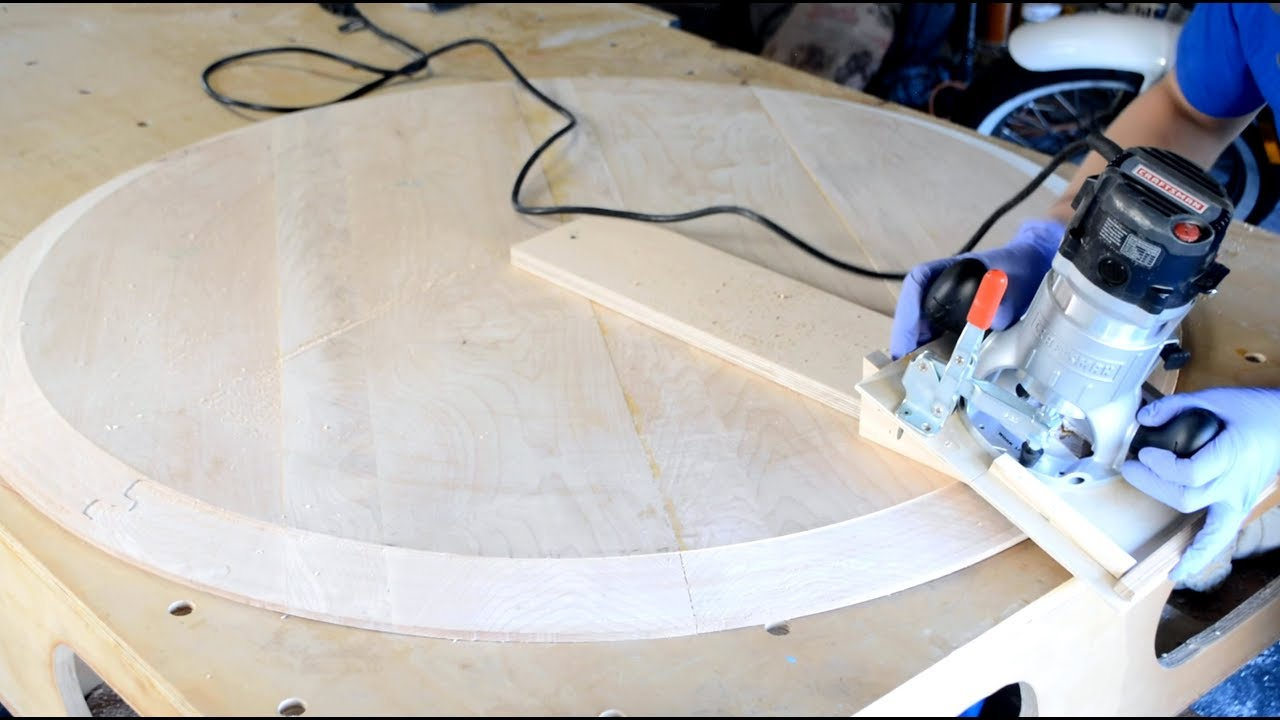 Drop Leaf Table 2 Of 4 Creating A Bevel On A Round Table Top Youtube