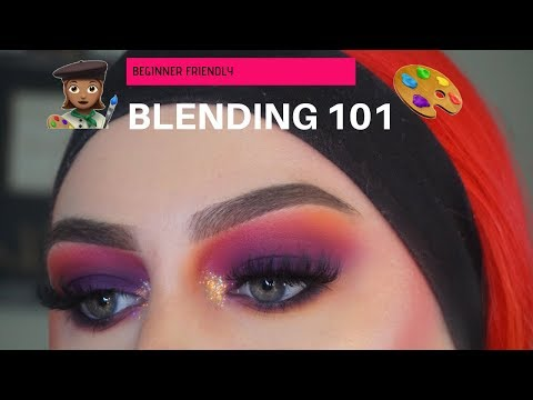 Beginner Friendly BLENDING 101  How to Get Colorful Eyeshadows to Blend like Butter  Chloeqmakeup