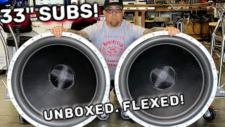 "Two 33"" Subwoofers for ALL the BASS! B2 Audio X26 Ferrite Unboxed & Flexed 10Hz"