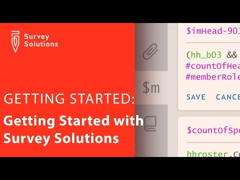 Getting Started With Survey Solutions
