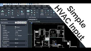 2D Ducting Input using PDF underlay