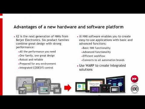 Converting an EXTER/E1000 HMI application to iX