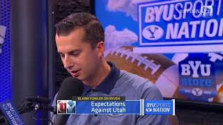 BYUSN - BYUtv Sports Analyst Blaine Fowler - 09.05.17