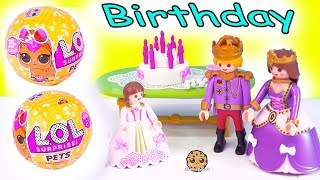 LOL Surprise Pets ! Playmobil Princess Birthday Party Blind Bag Gifts - Toy Video