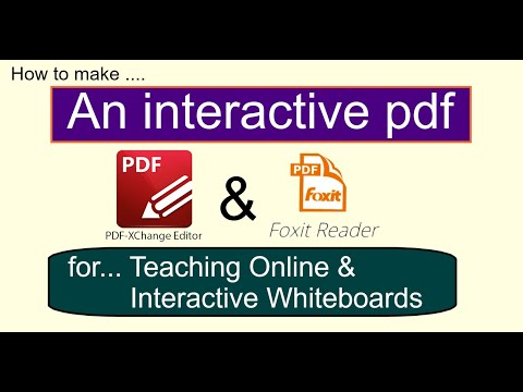 How to make an Interactive pdf - for Online teaching & interactive whiteboard.
