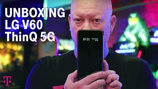 Unboxing LG V60 ThinQ 5G Phone with Des   T-Mobile