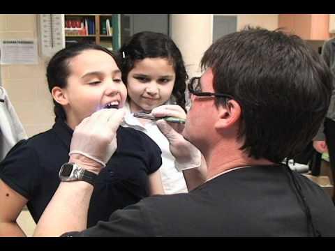 Free dental clinic at Livingston Elementary school 040811.mov