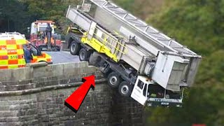 Top 10 Crazy Trucks Driving on Dangerous Road ! Idiots Operator Heavy Equipment Machines Working