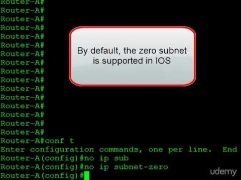 4  Configuring Zero Subnet Support