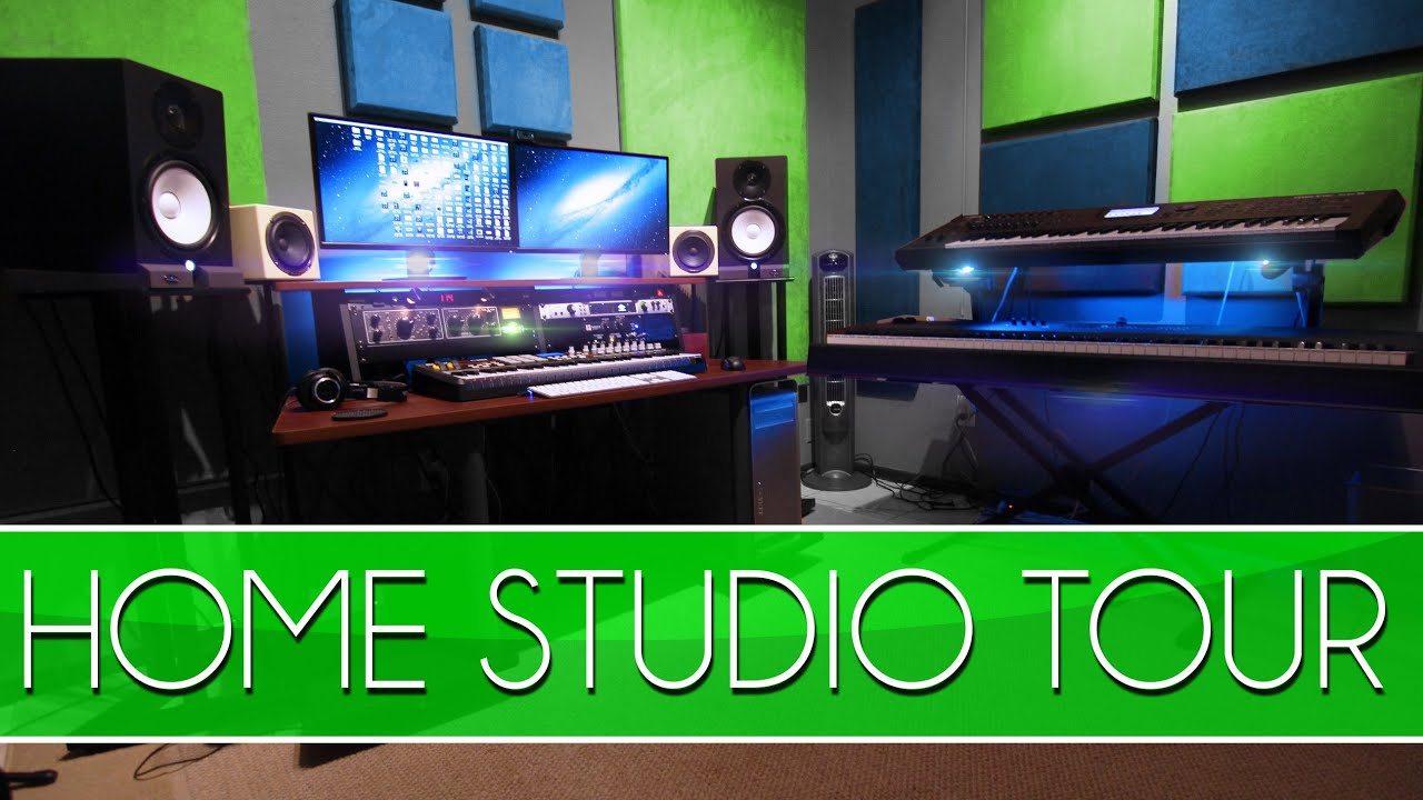 Studio tour how to build a home studio youtube for Home video tours