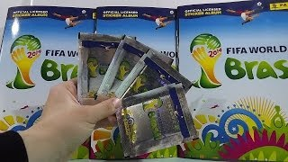 2014 Panini World Cup Brazil Stickers Packs Sticker Album Collection
