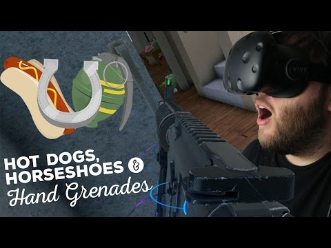 Hot Dogs Horseshoes and Hand Grenades - Breaching a Building! (HTC Vive VR Fps)