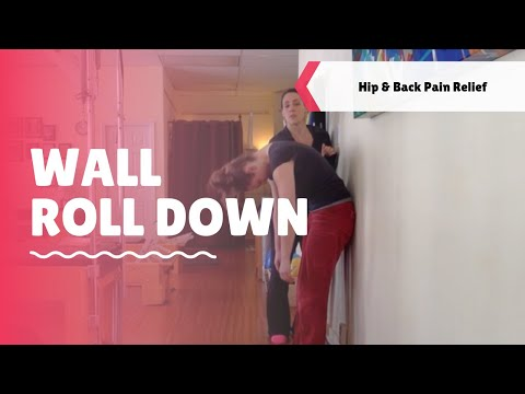 Pilates Exercise: Wall Roll Down