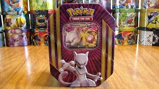 Pokemon Mewtwo EX Tin Opening