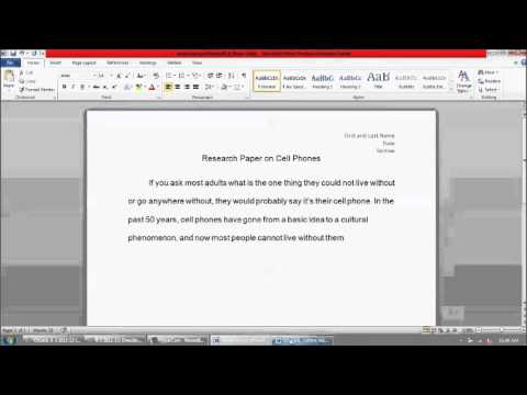 How to start your research paper