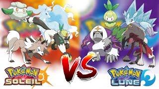 POKÉMON SOLEIL & LUNE tous les POKÉMON EXCLUSIFS - Pokémon Soleil VS Pokémon Lune !