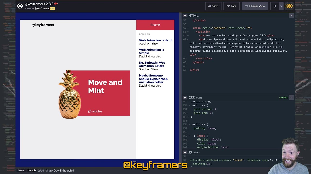 🍍↩️ Pineapple Placement, Part 1 | Complex Web Animation Challenge! |  @keyframers 2 8 0