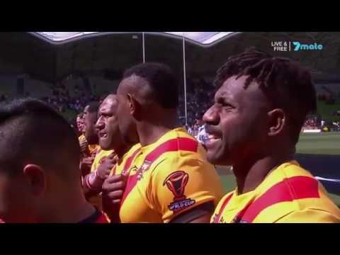 National Anthems - England vs Papua New Guinea [RLWC17 QF]