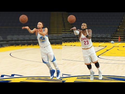 Who Can Make a Half Court Shot First in the NBA? Curry, LeBron, Durant, Kyrie, Westbrook? NBA 2K17